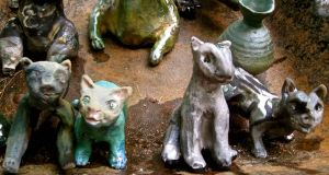 Small Raku Cats $35 - $49 up to 6