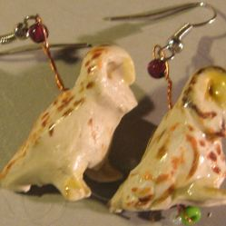 Owl Earrings - Available on ETSY