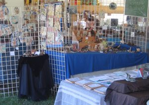Booth at Shelter Valley Folk Festival