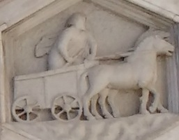Horse and Cart Relief on Duomo Florence