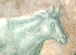 Cow Fresco in Green Vert