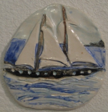 Tall Ship Wall Hanging Tile