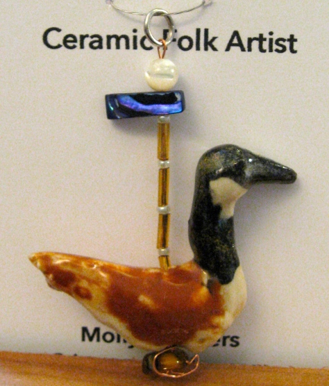Available on ETSY: https://www.etsy.com/ca/listing/400872617/miniature-ceramic-canada-goose-charm?ref=listing-shop-header-2